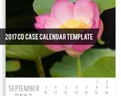 RESERVED for Dana- 2017 CD Case Calendar Template, Calendar for Photographers, Instant Download, Custom 5x7 Calendar