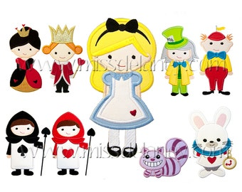Alice in Wonderland Applique Designs