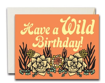 Wild Birthday Succulents