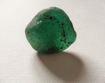 Beautiful huge bubbly bonfire sea glass - Gorgeous teal green English beach find