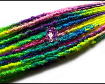 Colorful Multi Transitional Extra Long DE Synthetic Dreadlocks