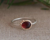 Burgundy Tourmaline Ring.  Silver Ring. Unique Ring. Valentines Day Gift. Ready to ship jewelry. Eco Friendly Jewelry. Love
