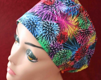 SALE... Fireworks Surgical Cap (biker/chemo/surgical)