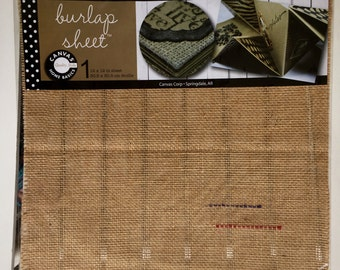 Canvas Corp.Burlap sheet, 12X12, scrapbooking, art journaling, mixed media, planning, mini albums, planning, card making, home decor