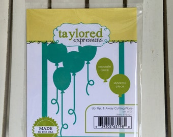Taylored Expressions Up,Up, & Away die/cutting plate for card making, scrapbooking, stamping, art journaling, planning, mini albums