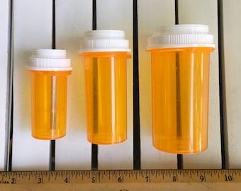 Bag of Medicine Bottles,  22, 3 sizes, for crafting