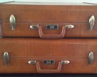 Stackable Vintage Luggage Set