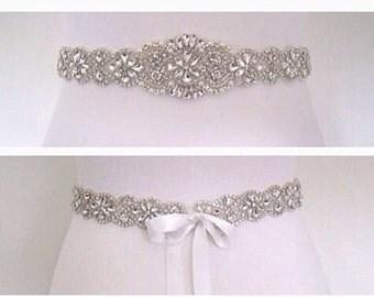 Crystal Bridal sash wedding dress belt sash