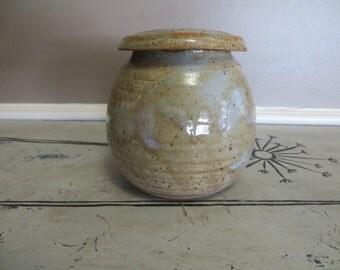 Pottery Jar Urn Pottery Covered Pot Earthenware Pottery Stoneware Canister Pottery Canister Stoneware Pottery Rustic Pottery Pot