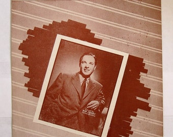 "BOB CROSBY PLAYS .""Five Minutes More"", 1938 Sheet music featuring bob crosby  cover, used  condition, See Description for more info"