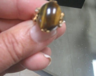 Vintage Stone Ring/Setting is 10k gold filled