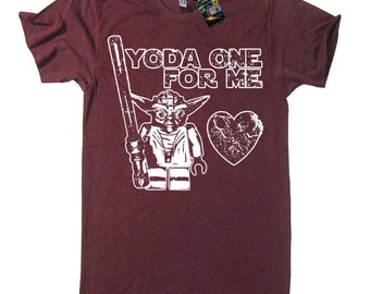 Yoda One For Me T-Shirt Funny Star Wars T Shirt - Valentines Day T Shirt Funny Valentine Gift Ideas Present For Him Her Boyfriend Girlfriend