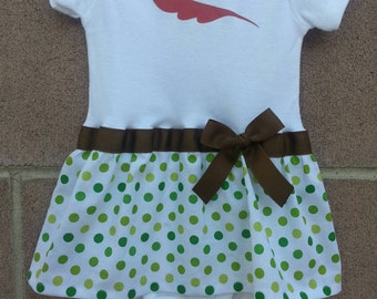 Peter Pan inspired baby girl outfit