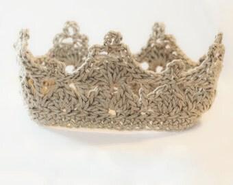 Crochet Baby Crown Headband - Crochet Crown - Crown headband - Crochet Headband- Color Choices Available -  Baby Prop