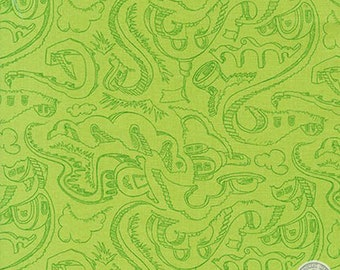14910226 - Dr Seuss Horton Hears a Who Stairs and Steps Lime Fabric