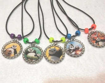 10 Kung Fu Panda Necklaces Party favors.