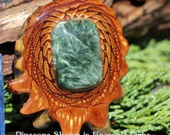 Seraphinite Third Eye Pinecone Pendant