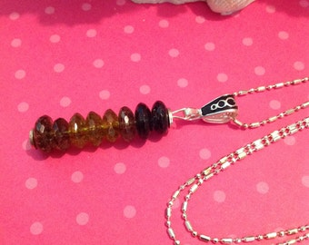 Black To Green Tourmaline Stack Necklace