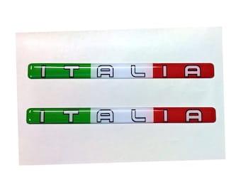3D Domed Italia Italy Stripe Stickers (2x) for Laptop Book Fridge Guitar Motorcycle Helmet ToolBox Door PC Boat