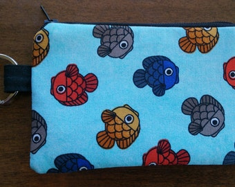 Keychain Coin Pouch - Asian Fish