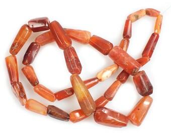 Ancient Carnelian & Agate Date Beads Strand 4, Mali