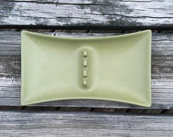 Vintage Hyalyn Ceramic Ashtray Mid Century Sage Green Ashtray MCM Hyalyn Porcelain Mid Century Modern