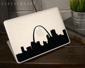 St Louis Skyline Macbook Decal 1 | Macbook Sticker | Laptop Decal | Laptop Sticker | Car Sticker