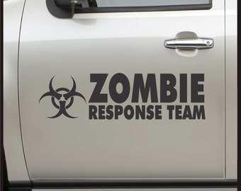 Zombie Response Team - Vehicle Sticker Set Vinyl Decal apocalypse car truck 4x4 funny bumper