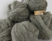 Needle felting core wool roving, gray natural wool roving, wool stuffing, grey core wool,4 ounces core wool, 2 ounces core wool, wool batt