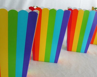 Popcorn Boxes Rainbow Favor Boxes Party Favors Candy Containers Candy Boxes Nut Boxes Birthday Party Favors Baby Shower Favors Rainbow Party