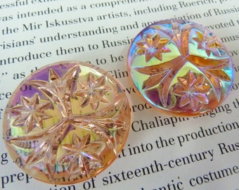 1 glass pendant, Ø32mm, salmon pink AB, round
