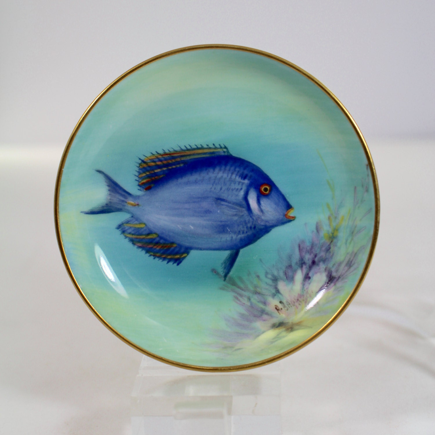 Royal worcester sergeant fish small porcelain pin dish for Fish dish burbank