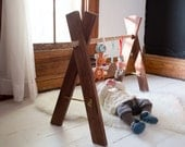 Natural Wooden Baby Gym - Kids Activity Gym Organic Walnut Wood Eco Friendly Furniture Nursery Bohemian Boho USA
