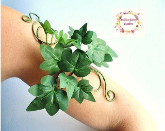 Poison ivy arm cuff arm wrap tree people woodland forest fairy