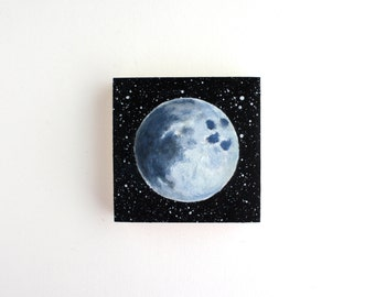 Full Moon Painting - 3 x 3