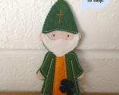 Saint Patrick - Catholic Saint Toy - Finger Puppet