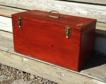 Vintage Wooden Ammo Storage Crate - Handmade Wooden Sectional Storage Box