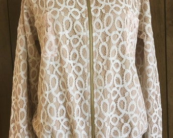 Lace & Sateen Bomber Jacket