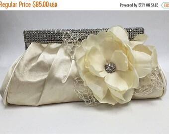 Wedding clutch, Bridal clutch, Champagne clutch, evening bag, Modern clutch, flower bag, crystal clutch, evening clutch, Party clutch