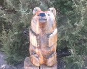 wood bear chainsaw carving