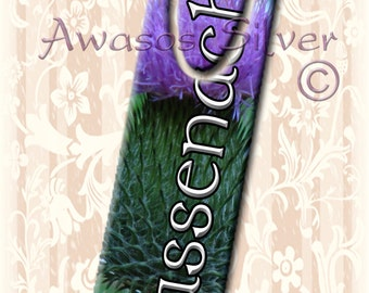 Metal bookmark with high quality printed original images. Outlander inspired bookmark. Sassenach bookmark. Jamie and Clair Fraser inspired