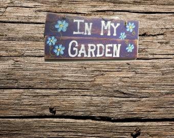 Handmade In My Garden Custom Sign   Wood Garden Sign   Hand Paint Wood Sign