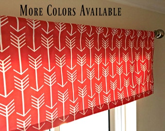 coral red curtains | etsy