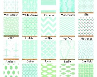 Mint Curtains, Valance, Custom Drapes, Pair Drapery Panels Chevron,Deer,Lattice,Horse 24W or 50W x 63, 84, 90, 96 or 108L Premier Prints
