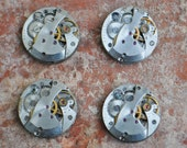 0.7 inch Set of 4 vintage wrist watch movements.