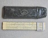 Vintage 1949 Soviet logarithmic engineering ruler, slide ruler.
