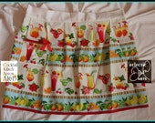"""Summer Tropical Drinks Apron """"Cocktail Kitsch"""" Apron A1615, Vintage Style"""