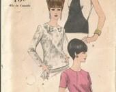 Vintage Blouse, Top, Vogue 6948, Sz 14, Bust 34 @1960