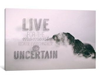 iCanvas Live for the Moment Gallery Wrapped Canvas Art Print by 5by5collective