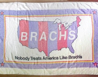 Vintage Brach's Candy Promotional Beach Towel